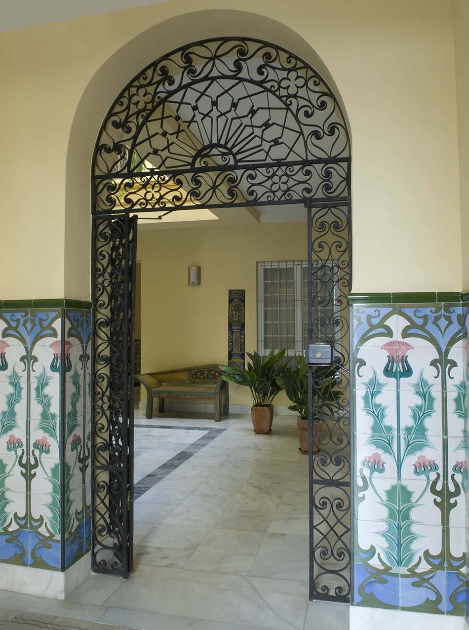 Eingang Wohnhaus Sevilla